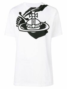 Vivienne Westwood Anglomania logo print T-shirt - White