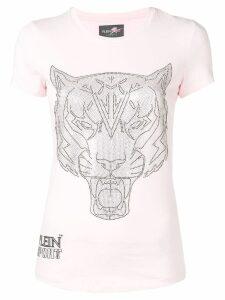 Plein Sport embellished Tiger T-shirt - Pink