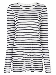 T By Alexander Wang striped jersey top - White