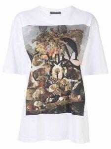 Alexander McQueen Oversized Logo T-shirt - White