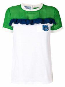 Prada colour-block T-shirt - White