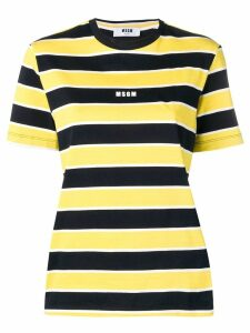 MSGM striped short-sleeve T-shirt - Yellow