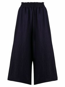 Forte Forte cropped wide leg trousers - Blue