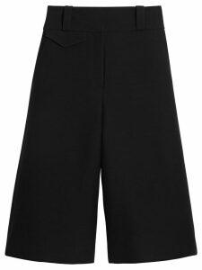 Burberry Wool Silk Wide-leg Culottes - Black