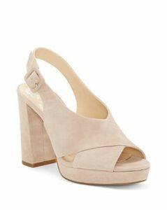 Vince Camuto Women's Javasan Peep Toe Suede Platform Sandals
