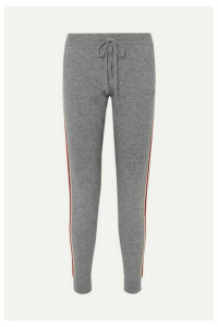 Chinti and Parker - Ringmaster Striped Cashmere And Wool-blend Track Pants - Gray