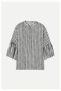 Michael Kors Collection - Striped Silk-crepe Blouse - White