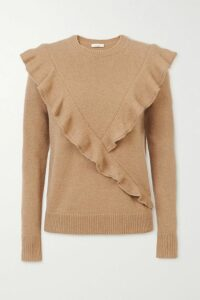 Tibi - Oversized Cotton-blend Sweater - Lilac