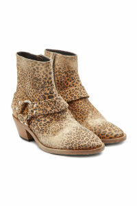 Golden Goose Printed Suede Ankle Boots