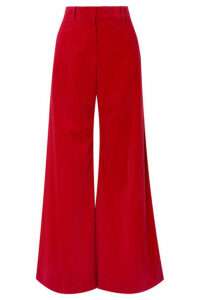 Bella Freud - Bianca Cotton-corduroy Wide-leg Pants - Red