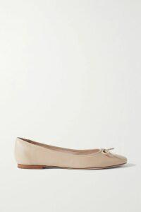 Caroline Constas - Belen Off-the-shoulder Silk-blend Satin Top - Burgundy