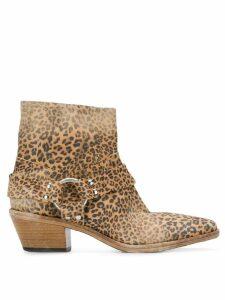Golden Goose leopard print Western boots - Brown