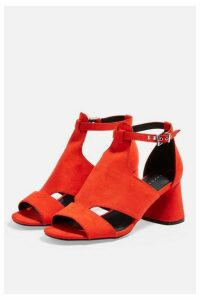 Womens Destiny Cut Out Shoe Boots - Red, Red