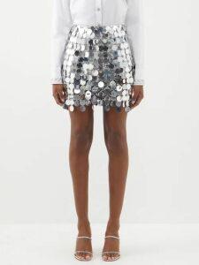 Rhode - Nala Belted Marigold-print Cotton Dress - Womens - Ivory Multi