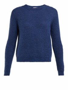 Masscob - Eden Ribbed Mohair Blend Sweater - Womens - Navy