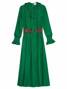 Gucci Silk dress with Double G belt - Green