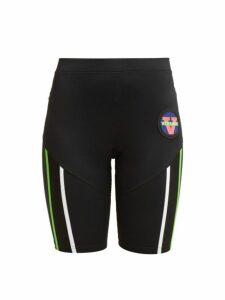 Versace - Logo Patch Technical Cycling Shorts - Womens - Black