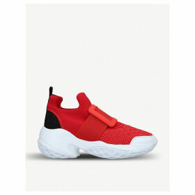 Viv Run scuba and leather trainers