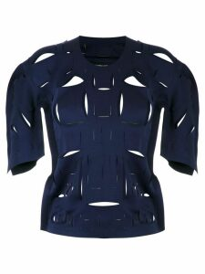 Gloria Coelho cut out details blouse - Blue