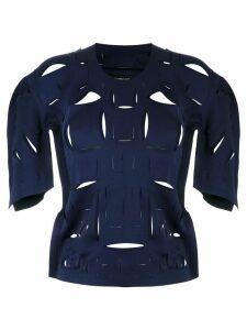 Gloria Coelho cut out details blouse - Blue
