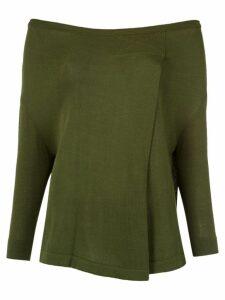 Gloria Coelho knit blouse - Green