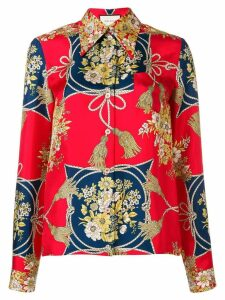 Gucci floral print shirt - Red
