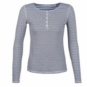 Maison Scotch  LONG SLEEVES NAVY TOP  women's T shirt in Blue