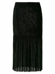 À La Garçonne velvet midi skirt - Black