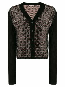 Marco De Vincenzo sequin panel cardigan - Black