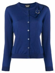 Boutique Moschino bow detailed cardigan - Blue