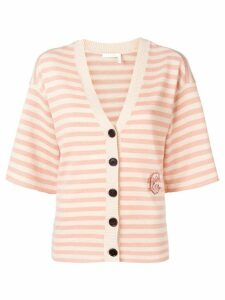 Chloé striped cashmere cardigan - Pink