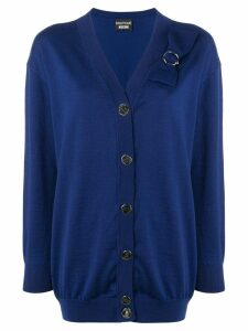 Boutique Moschino loose-fit midi cardigan - Blue