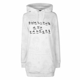 Swallows and Daggers All Over Print Hoodie - White