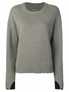 Zadig & Voltaire Gaby layered cuff pullover - Green