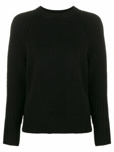 Joseph round neck jumper - Black