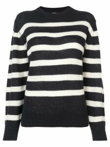 Khaite striped round neck jumper - Blue