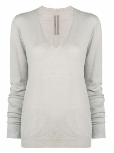 Rick Owens classic v-neck knit sweater - Grey
