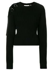 Helmut Lang knit harness shoulder jumper - Black