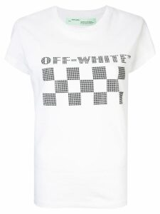 Off-White checkerboard logo T-shirt