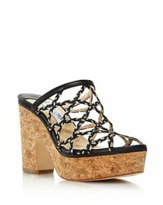 Jimmy Choo Women's Dalina Caged Platform Sandals