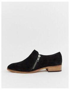 ASOS DESIGN Moorgate suede slip on flat shoes