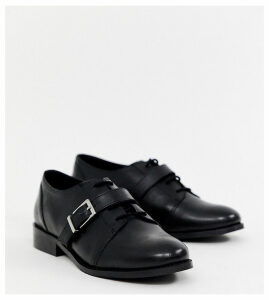 Park Lane wide fit leather brogues-Black