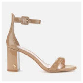 Kurt Geiger London Women's Langley Patent Block Heeled Sandals - Camel - UK 8 - Nude