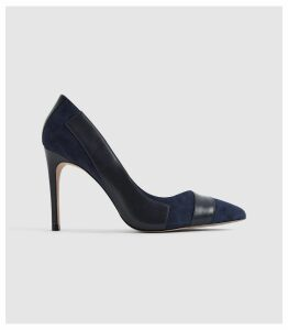 Reiss Augusta - Point Toe Court Shoes in Navy, Womens, Size 8