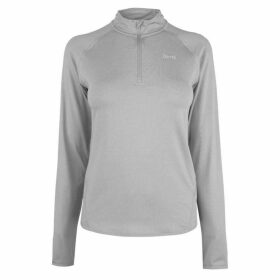 USA Pro Long Sleeve Zip Top Ladies - Grey Marl