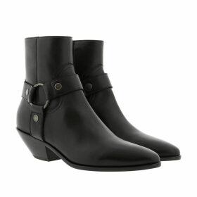 Saint Laurent Boots & Booties - West Harness Bootie Leather Black - black - Boots & Booties for ladies