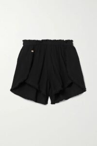 Prada - Belted Mohair And Wool-blend Blazer - Black
