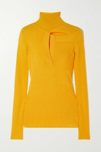Prada - Printed Jersey Turtleneck Top - Orange
