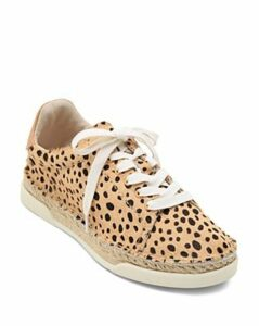 Dolce Vita Women's Madox Leopard Print Calf Hair Lace-Up Sneakers
