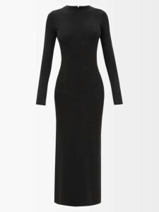 Prada - Logo-intarsia Wool Sweater - Womens - Blue Multi